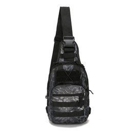 chest bag hiking Canada - Outdoor Sport Nylon Tactical Military Sling Single Shoulder Chest Bag Pack camping hiking Backpack climbing bag