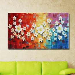 $enCountryForm.capitalKeyWord Canada - Hand drawing flower tree pictures no framed nice design bright color abstract canvas flower oil painting