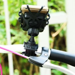 universal phone holder for bike Australia - Mobile Phone Holder Bike Handlebar Mount with Silicon Tie bike Strap for iphone 7   7 plus   6s for Samsung Smartphone
