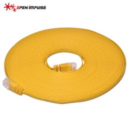 $enCountryForm.capitalKeyWord Canada - Hot Sale New 15M 32AWG Passed Fluke UTP Lan Cord Yellow Color Flat Ethernet Network Cable CAT6