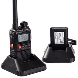 Dual Band Uhf Vhf Portable Canada - Wholesale-Newest baofeng uv-3r Plus Interphone Two 2 Way Radio Portable Mini Walkie Talkie For Uhf Mobile Radio Dual Band Vhf Radio Marine