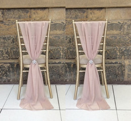 clear wedding chairs wholesale Australia - Enable Destop Garden Formal Wedding Chair Cover Back Sashes Romantic Oceanfront Flower Banquet Decor Bow Christmas Birthday Chair Sashes