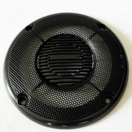 $enCountryForm.capitalKeyWord NZ - Wholesale- 2Pcs 4Inch Plating Car Speaker Cover Speakers Protective Net Tweeter Grille Waffle Mesk Grills Special Audio Accessories