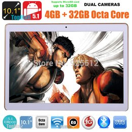 White Cameras Memory Canada - tablet new 10.1 inch tablet PC Eight core 4G call 4GB memory 32 ROM GB dual camera Android 5.1 Bluetooth WIFI GPS