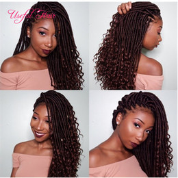 "Discount dreadlocks braids - ombre 18"" GODDESS CROCHET BRAIDS faux locs braids hair 100g crochet braids hair extensions 11.11 faux dreadlocks sy"