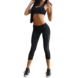 women s workout sets UK - Women Yoga Sets Bra+Pants Fitness Workout Clothing And Women's Gym Sports Running Girls Slim Leggings+Tops Sport Suit For Female