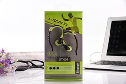 Iphone Stereo Player Australia - Bluetooth Headset Sports Running HIFI Stereo Wireless Earphones with Mic Multi-point Handsfree Mp3 Player for iPhone 4 5 6 7