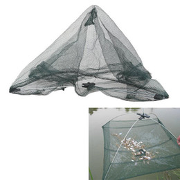 Chinese  55 x 55cm Folding Fishing Net Nylon Network Shrimp Fish Net Casting Net Fishing Cage Fishnet rede de pesca BHU2 manufacturers