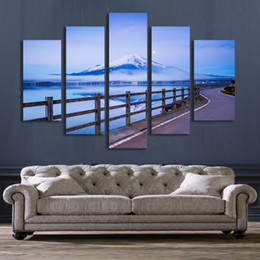 $enCountryForm.capitalKeyWord NZ - 5 Panel Snow Mountain Landscape Painting Wall Art Canvas Prints Artwork Modern Home Decor Living Room Unframed