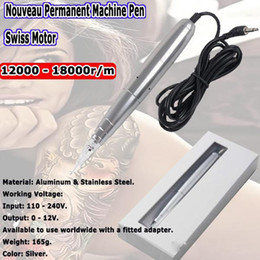 Make Permanent Tattoo Pen Canada - Tattoo Permanent Makeup Pen Machine Eyebrow Make up&Lip Rotary Tattoo Swiss Motor Machine Free Shipping
