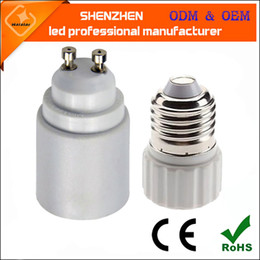 cfl bulb adapters Canada - High Quality E27 to GU10 Extend Base LED CFL Light Bulb Lamp Adapter Converter Socket Fireproof lamp Holder Converters Socket Conversion