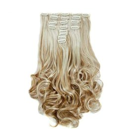 $enCountryForm.capitalKeyWord UK - 2017 I's a 10 Colors Clip in Hair Extensions 8pcs set 24inch 60 cm Long Wavy Heat Resistant Hairpiece