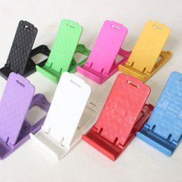 Discount cell phone accessories wholesalers - Cell Phone Mounts Plastic Mobile Foldable Holders Fashion Portable Accessories Mix Color Hot Sale Christmas Gift