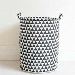 Fold Laundry Basket Canada - Portable Laundry Basket Cotton&Linen Storage Barrel Folding Dirty Cloth Storage Baskets Kids Toys Sundries Organizer 35x45cm