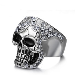 $enCountryForm.capitalKeyWord NZ - Wholesale High Quality Mens Hip Hop Jewelry Fashion Punk Index Finger Skull Ring High Polished Stainless Steel Ghost Men Rings