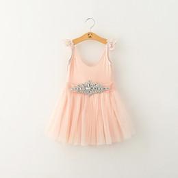 $enCountryForm.capitalKeyWord Canada - New style children Girls Dress Desigin Suspender Skirt Embroidered Dress Bright Drill Lace Layered Princess Dres