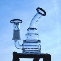 Tall Inline Bong Canada - 13cm Tall Glass Bongs Inline Perc Thicken Base 14.4 mm Joint Size Dome And Nail Recycle Oil Rigs Glass Bong Cheap Hookahs