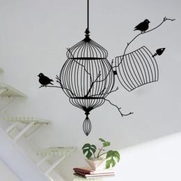 Black Birdcage Bird Removable Art Wall Sticker Home Decor Decal Vinyl Mural  DIY
