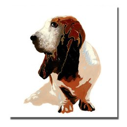 $enCountryForm.capitalKeyWord UK - Modern Canvas Art Dog Pictures for Living Room Decoration Hand Painted Oil Painting Home Decor Wall Pictures No Framed