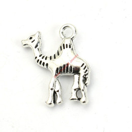 Wholesale 20pcs Antique Silver Plated Camel Charms Pendants for Bracelet Jewelry Making DIY Necklace Craft X19mm
