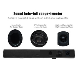 Abs Plastic Speakers Canada - High Grade ABS Plastic Speaker for BT Home Theater Bloetooth Wireless Surround Speaker Soundbar S11 for Notebook
