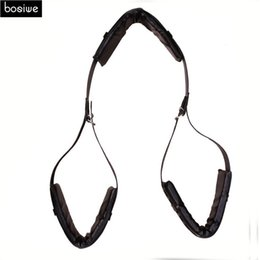 Piernas Arnés Para El Sexo Baratos-Juguetes Sexuales de Cuero para Adultos Pareja Sex Kit Bondage Arnés de sujeción de piernas Abiertas Sex Combination Belt Sex Position Bondage Slave