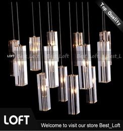 K9 Crystal Rod Spiral Ceiling Light Modern Creative LED Loft Chandelier  Living Room Hotel Bar Light Fixture Chandelier Light