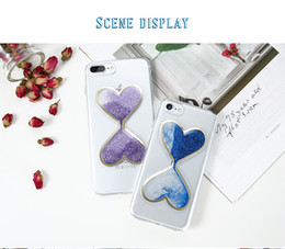 iphone cases hourglass 2019 - Soft Phone Case For iPhone 6 6S 7 7 Plus Cover 3D Hourglass Quicksand Clear Transparent Back Cover Case For iPhone 5 SE
