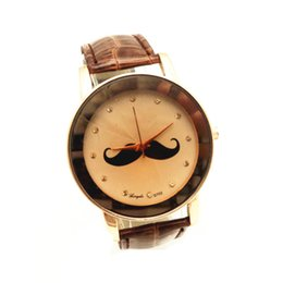 $enCountryForm.capitalKeyWord NZ - Free shipping!PVC leather band,gold plate case,beard imprint dial,quartz movement,gerryda fashion woman lady cartoon leather watches,702