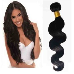 virgin remy brazilian human hair extensions Canada - Brazilian virgin Hair Body Wave best Quality hair weft extensions hot sale 8-26inch Natural Color and Black #1 #1b Indian remy human hair