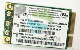 Discount x61 laptop Wholesale- Dual band 4965AGN 4965AN 4965AGNMMW 300Mbps Mini PCI-e Wireless Card FRU:42T0865 for thinkpad T61 R61 X61 x61
