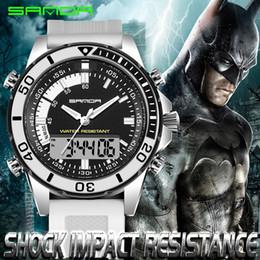 Analog Digital Man Watch NZ - men's sport wrist watches new Waterproof 30m Led Digital Analog Quartz Watch Sanda Watches Male Fashion Sport Military Wristwatches Men