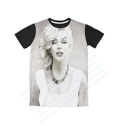 Maillot Taille Marilyn Monroe Pas Cher-2 Couleurs Real USA Taille Tentant Marilyn Monroe T-Shirt imprimé sublimation 3D Plus grande taille