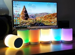 $enCountryForm.capitalKeyWord NZ - colorfully led usb speaker Portable Romantic Touch Sensor amplifier 3 in 1 Smart Light Wireless Bluetooth mini soundbar FM TF AUX