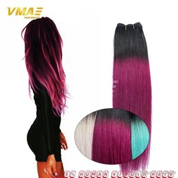 Purple remy hair weave australia new featured purple remy hair straight purple brazilian ombre hair extensions weave 1b purple 3 bundles ombre 1b gray bundles hair extensions for dark hair girls pmusecretfo Images