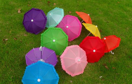 special umbrella NZ - Dia 28cm Candy Color Solid Color Umbrella Dance Umbrella Umbrella Toy Props Umbrella Special Multicolor Free Shipping