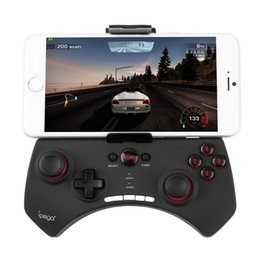 Playstation Wireless Controllers Canada - Cool Wireless Bluetooth Game Controller Gaming Joystick Gamepad for Android iOS iPhone iPod Smart Phone PC Black Wholesale
