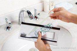 Transparenter PVC-wasserdichter Ventilbeutel waschen Gurgele empfangen Beutel, um Größe 22 * 9.5cm zu reisen Freies Verschiffen durch DHL