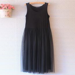 ec7625cc9f0 Wholesale- 2016 Hot New Women Vest Cotton Lace Casual Ball Gown Sundress Summer  Maxi Long Beach Tank Sleeveless Dress NS8102