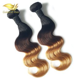 12 inch remy hair cheap online shopping - Cheap Three Tone Ombre Hair Body Wave T1B Ombre Hair Extensions Brazilian Peruvian Malaysian Hair Weaving