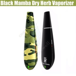 Chinese  Original Black mamba Dry herb vaporizer vape pen Herbal wax vaporizers Kingtons Widow Ceramic Heating System vopor mods e cigarette cigs DHL manufacturers