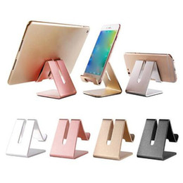 $enCountryForm.capitalKeyWord Australia - Universal 3 Colors Aluminum Metal Cell Phone Tablets PC Desk Stand Holder Support Bracket for samsung note 8 iphone X