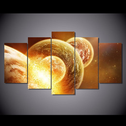 posters canvas prints Australia - 5 Pcs Set Framed Printed cosmos galaxy Painting on canvas room decoration print poster picture canvas Free shipping NY-5755