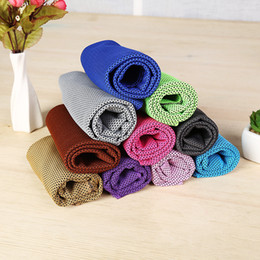 $enCountryForm.capitalKeyWord Canada - 6PCS LOT Hot 10 Colors New Double layers Ice Towel Utility Enduring Instant Cooling Towel Heat Relief Reusable Chill Cool Towel