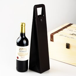 $enCountryForm.capitalKeyWord Canada - Red Wine Packing High Grade pvc Leather Fashion Classic Single Wines Bag With Handle Gift Storage Boxes Hot 10jx F R