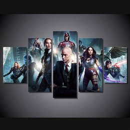 Canvas Prints Free Shipping Australia - 5 Pcs Set Framed Printed x men apocalypse Painting Canvas Print room decor print poster picture canvas Free shipping ny-4967