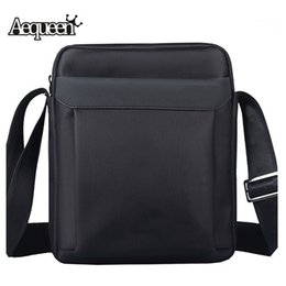 Discount oxford crossbody messenger bags - Wholesale- AEQUEEN Fashion Mens Waterproof Shoulder Bags High Quality Oxford Casual Crossbody Messenger Bag Business Men