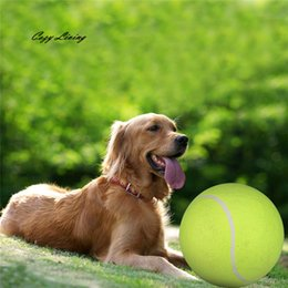 Discount inflatable orange - Interactive Toy Dog 1 PC 24CM Giant Tennis Ball For Pet Chew Toy Big Inflatable Supplies Outdoor Toys Sporty Wholesale J