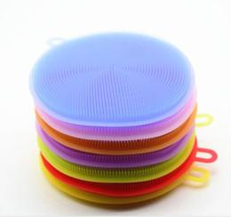 8 colores Magic Silicone Dish Bowl cepillos de limpieza estropajo olla pan cepillos de lavado limpiador cocina
