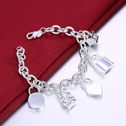 $enCountryForm.capitalKeyWord NZ - Five Lock Bracelet Fashion Lock ROLO Silver Ladies Fashion Popular Classic Bracelet Women Bracelet Female Wrist Jewelry Bracelets For Women